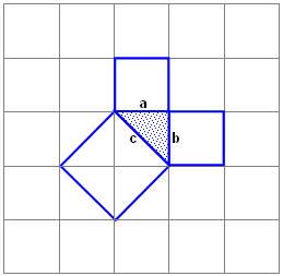 Равнобедренный прямоугольный треугольник, теорема Пифагора